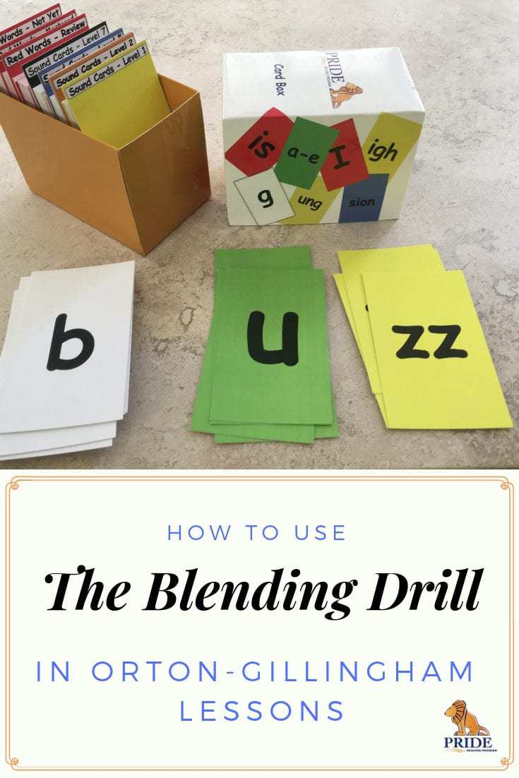 The Blending Drill in Orton-Gillingham.  The Blending Drill in Orton-Gillingham is a great activity for kids to learn how to decode with nonsense words using a multisensory strategy.  Read here how to do it and watch the video.  #ortongillingham #dyslexia #blendingdrill #teachphonics #OGTutor #strugglingreader
