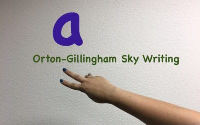 How I use Orton-Gillingham Sky Writing with my Students