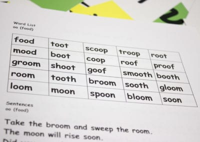 Word List for 'oo'