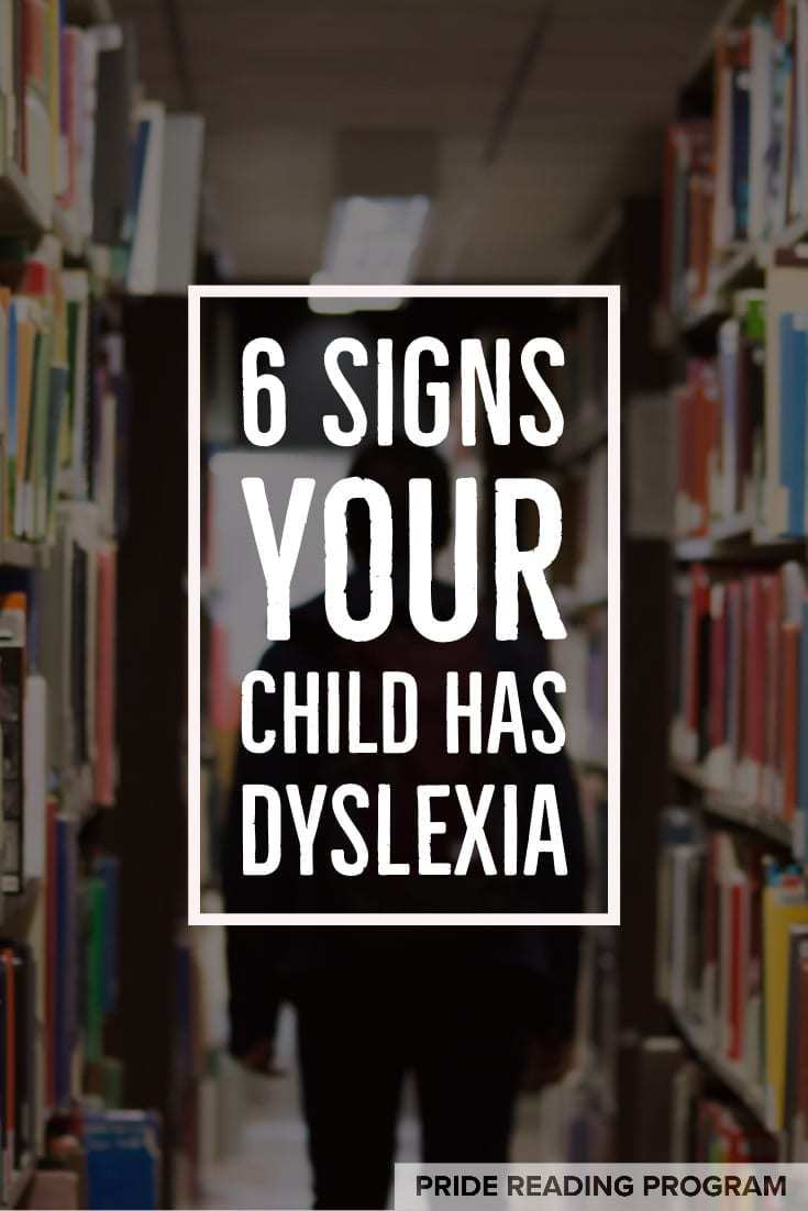 Dyslexia is really common and 1 in every 5 kids has it.  So, if you are wondering if your child might have dyslexia, here are 6 major signs to look for. #dyslexia #ortongillingham #parenting #kids #education #literacy