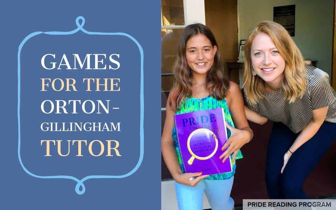 Games for the Orton-Gillingham Tutor