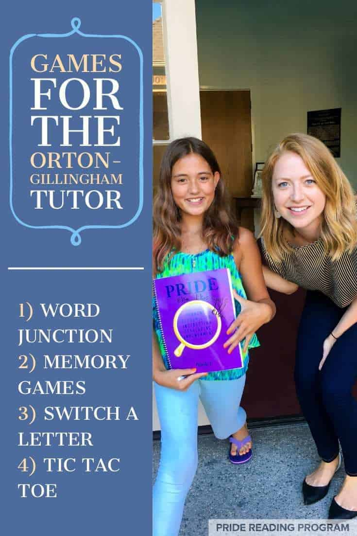 Games for the Orton-Gillingham Tutor.  Here are some really fun games that will keep the kids happy during your OG lessons. #ortongillingham #games #dyslexiatutor #OGtutor #