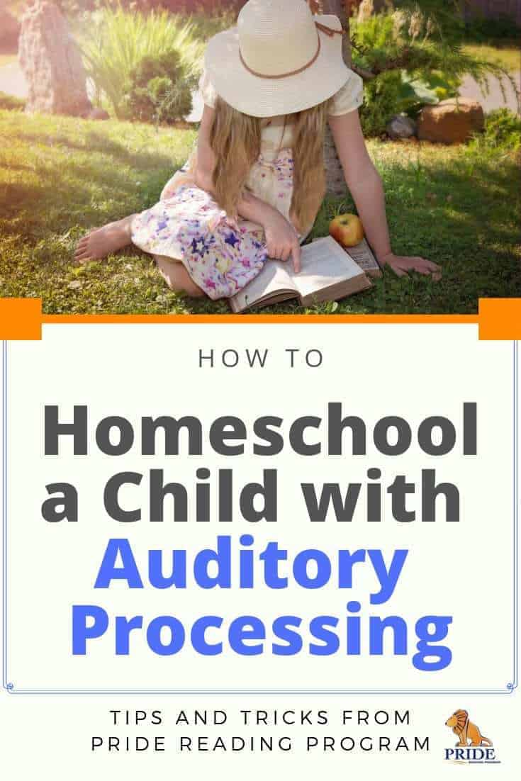 Homeschooling a child with auditory processing - here are some tips, strategies and more for a successful homeschooling experience.  #homeschool #auditoryprocessing #kids #parenting #ortongillingham