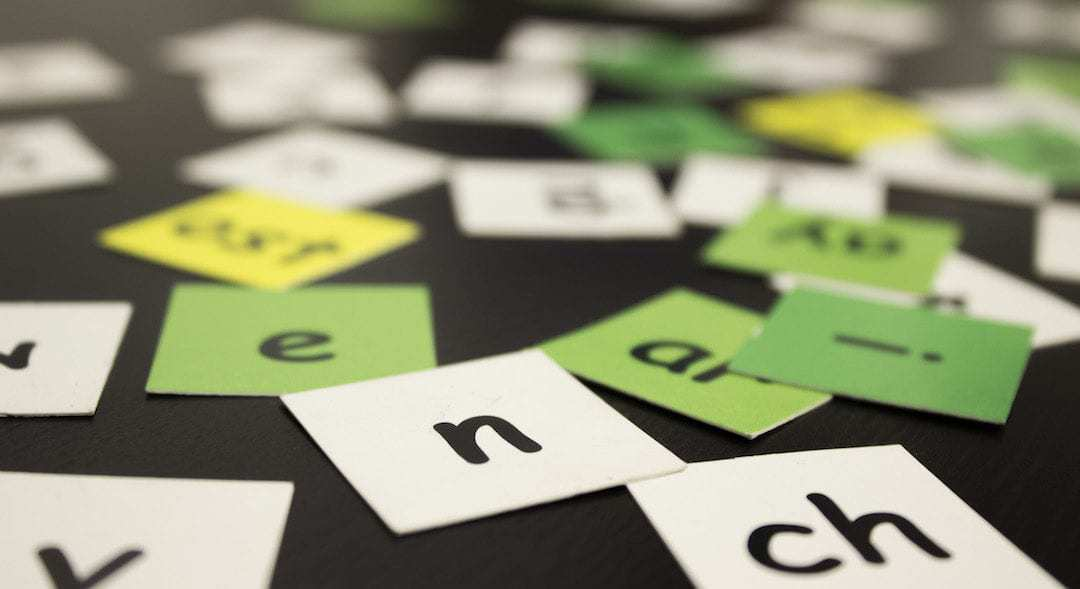 Spelling with Letter Tiles in Orton-Gillingham