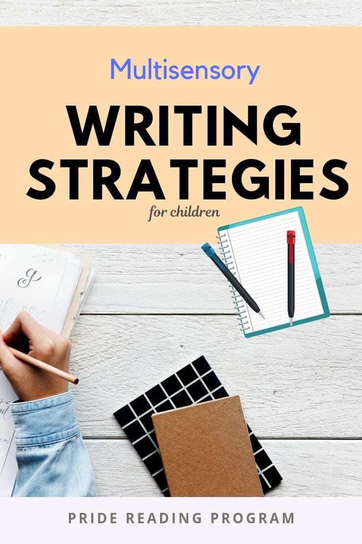 Writing doesn\'t need to be boring.  Try these fun and engaging multisensory writing strategies with your kids.  When kids see it, say it, hear it and move with it - they learn best! #writing #teachwriting #multisensory #homeschool #ortongillingham #dysgraphia