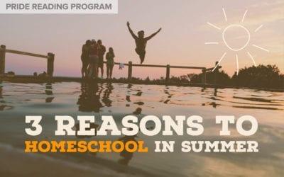 3 Reasons to Homeschool in Summer