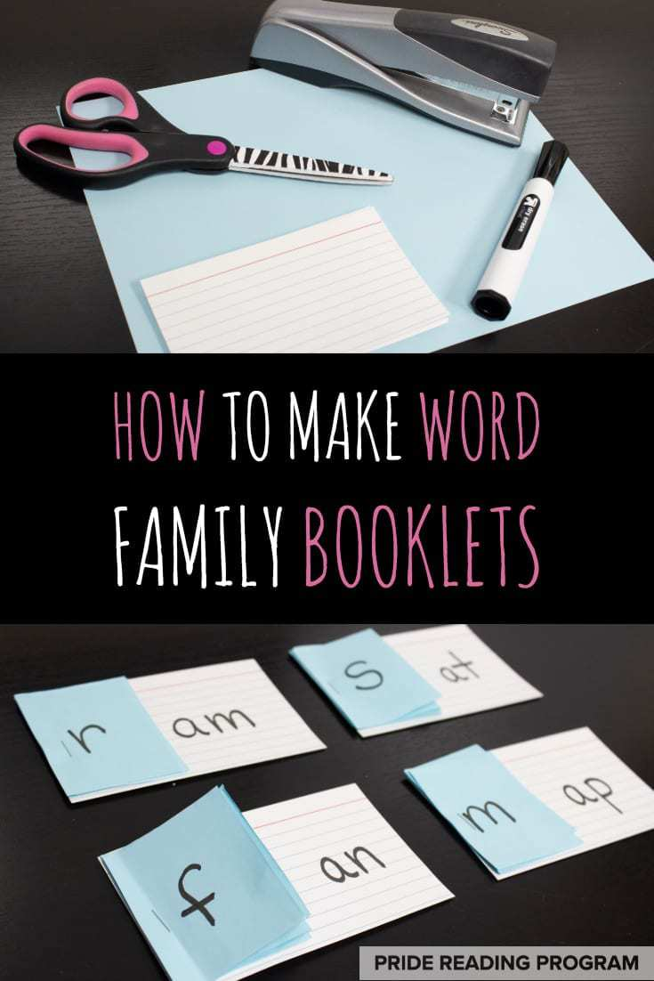Make these Word Family booklets with your kids - they make a great addition to any Orton-Gillingham lesson or reading projects.