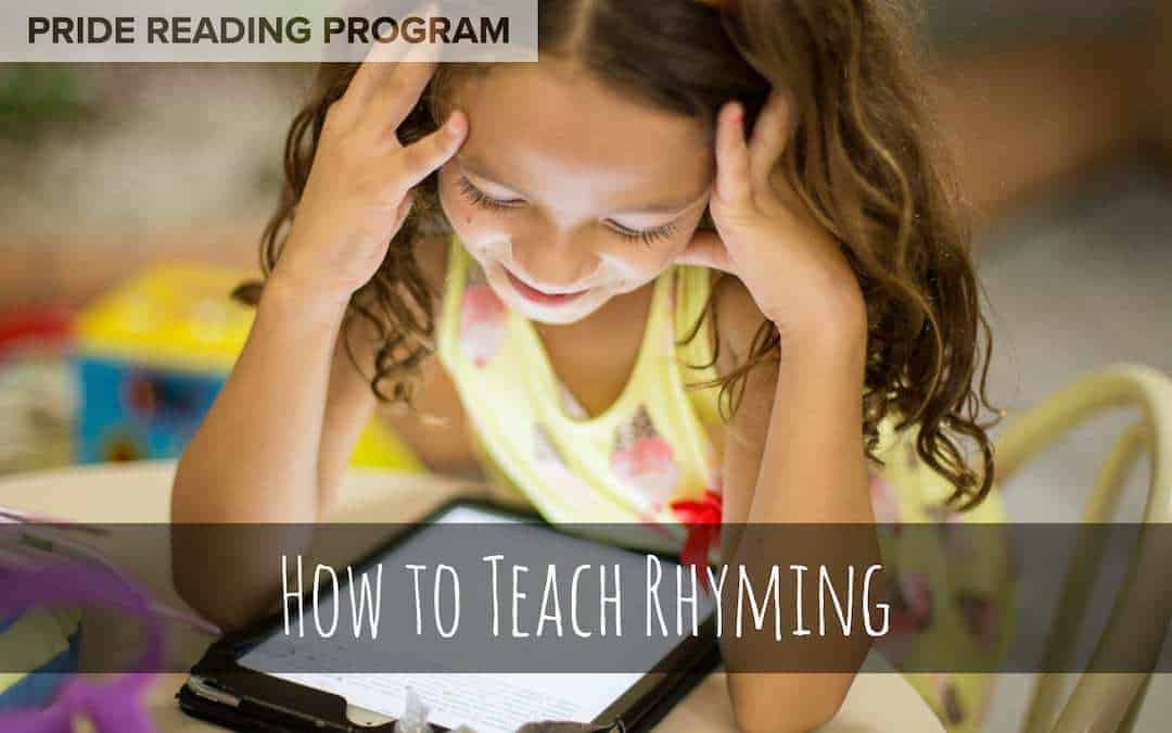 How to Teach Rhyming