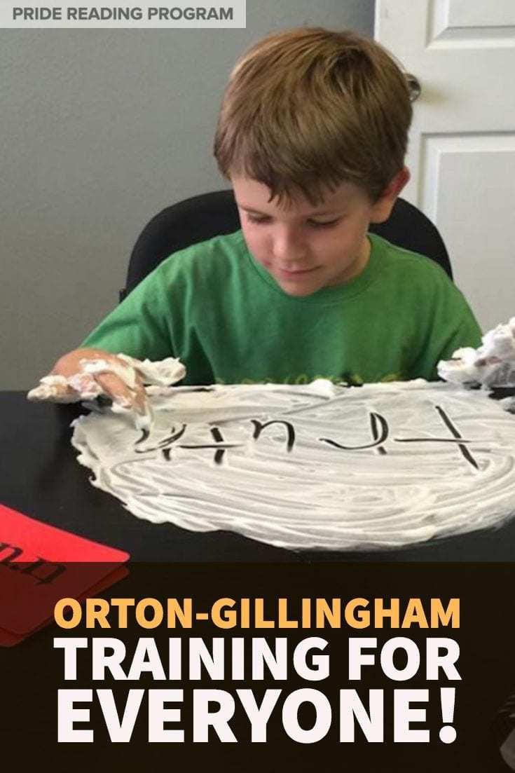 FREE Orton-Gillingham Training for Everyone!  Learn about the Orton-Gillingham methodology and get a nice strong overview of how you can use this multisensory approach with your students.  Perfect for teachers, tutors and parents.  #ortongillingham #readingintervention #teacher #parent #tutor