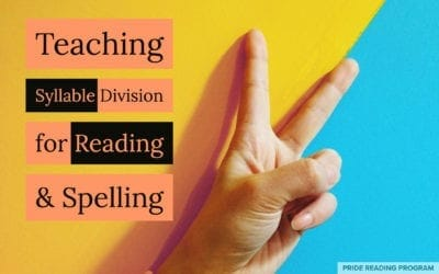 Teaching Syllable Division for Reading and Spelling