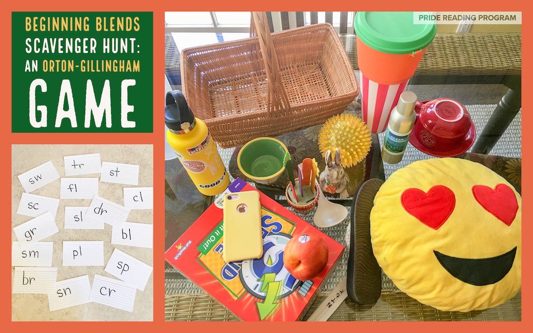 An Orton-Gillingham Game: Beginning Blends Scavenger Hunt