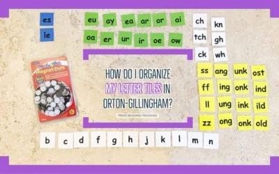 How Do I Organize My Letter Tiles in Orton-Gillingham?