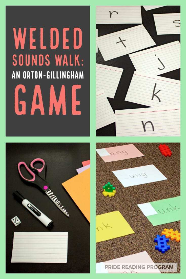 Welded Sounds Walk: An Orton-Gillingham game.  Learning those welded sounds (ang, ing, ung, onk, etc.) can be a lot of fun if you put some movement into it.  Here is a game that the kids love to play.  #ortongillingham #phonics #literacy #spelling #reading #specialed