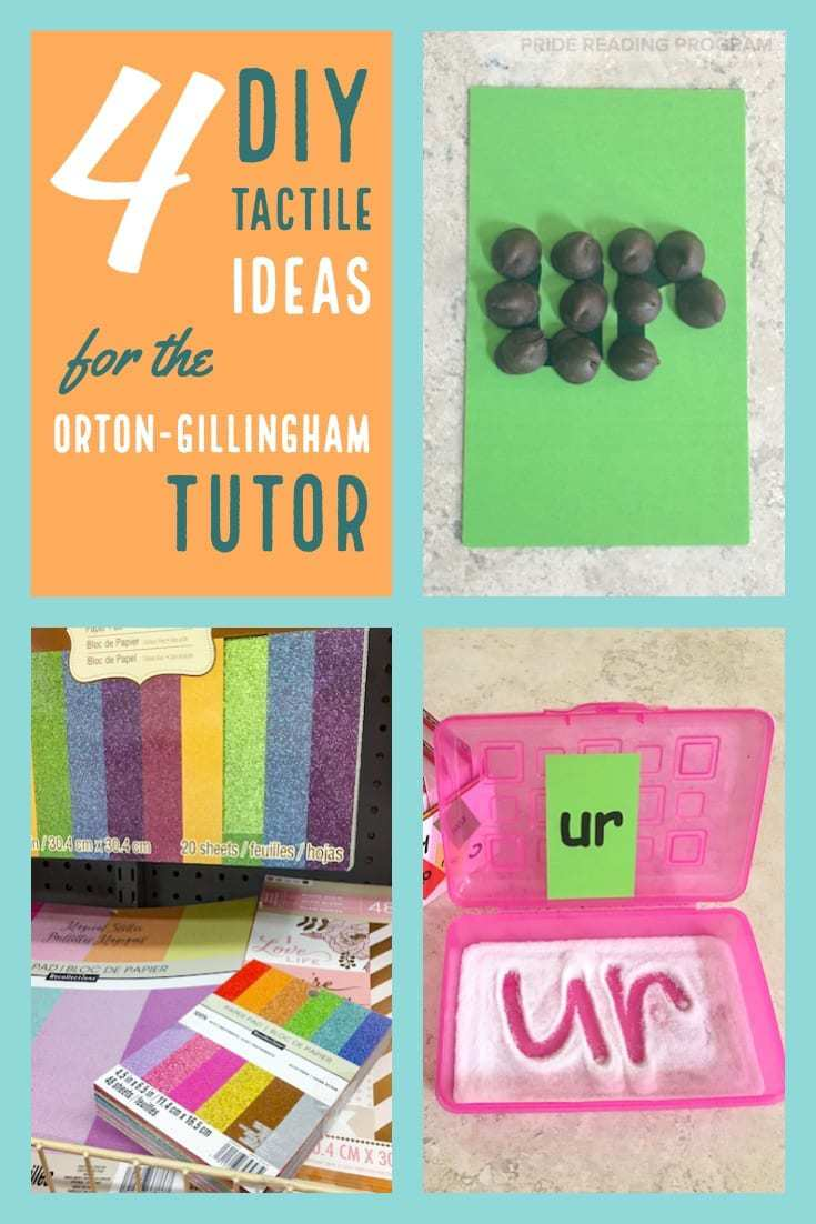 4 DIY Tactile Ideas for the Orton-Gillingham Tutor.  Here are some wonderful multisensory tactile ideas, and my favorite tracing materials, that are inexpensive and easy for the Orton-Gillingham tutor to use. #ortongillingham #ogtutor #tutor #teacher #literacy #readingintervention #tactile #multisensory