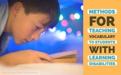 Methods For Teaching Vocabulary to Students with Learning Disabilities