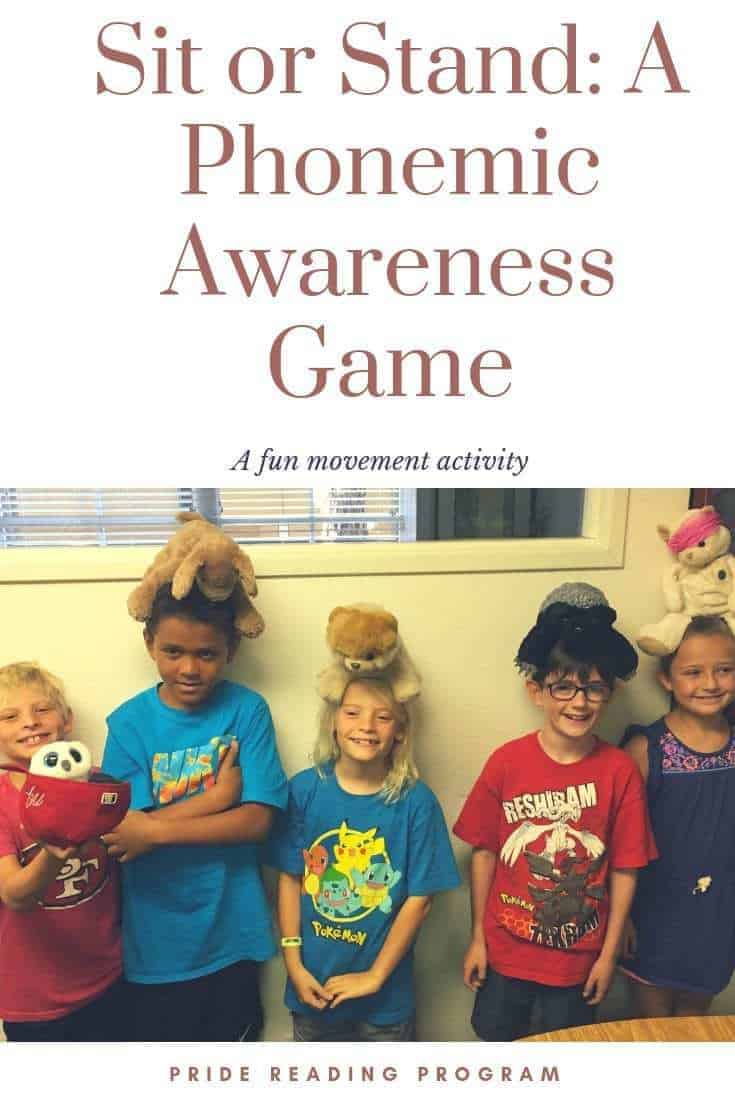 Play a fun movement game and help your child learn phonemic awareness at the same time by playing the Sit or Stand: A Phonemic Awareness Game #phonics #reading #readinggame #phonemicawareness #phonicgame #speechtherapy #ortongillingham #ogtutor