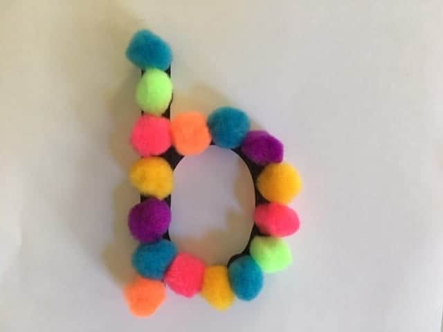 DIY Magnetic Pom Pom Letter Fun