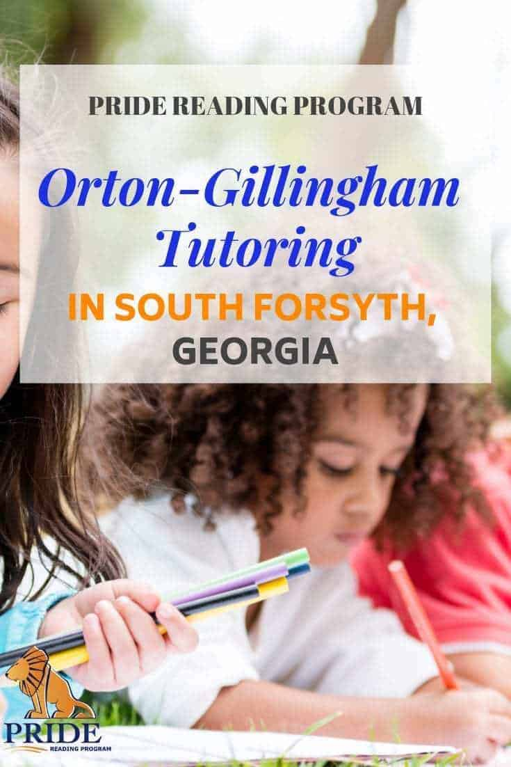 Orton-Gillingham tutoring is now available in South Forsyth, Georgia! The Omega Learning Center in South Forsyth Georgia together with the PRIDE Reading Program has taken a big leap forward to provide the best curriculum and instruction necessary to provide Orton-Gillingham tutoring for struggling students at the South Forsyth location. #ortongillingham #ogtutor #georgia #southforsyth #dyslexia #tutor
