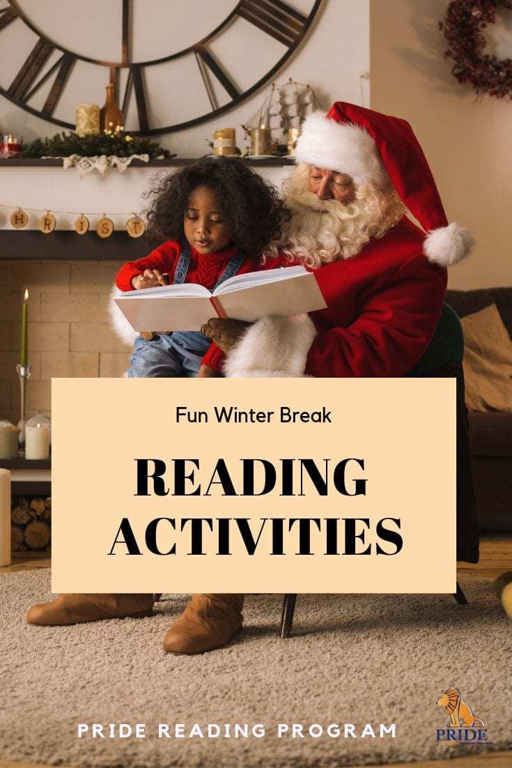 Fun Winter Break Reading Activities.  Here is a list of fun reading activities you can do this holiday season with your children to keep them reading.  #winterlearning #readingactivity #holidays #winterbreak