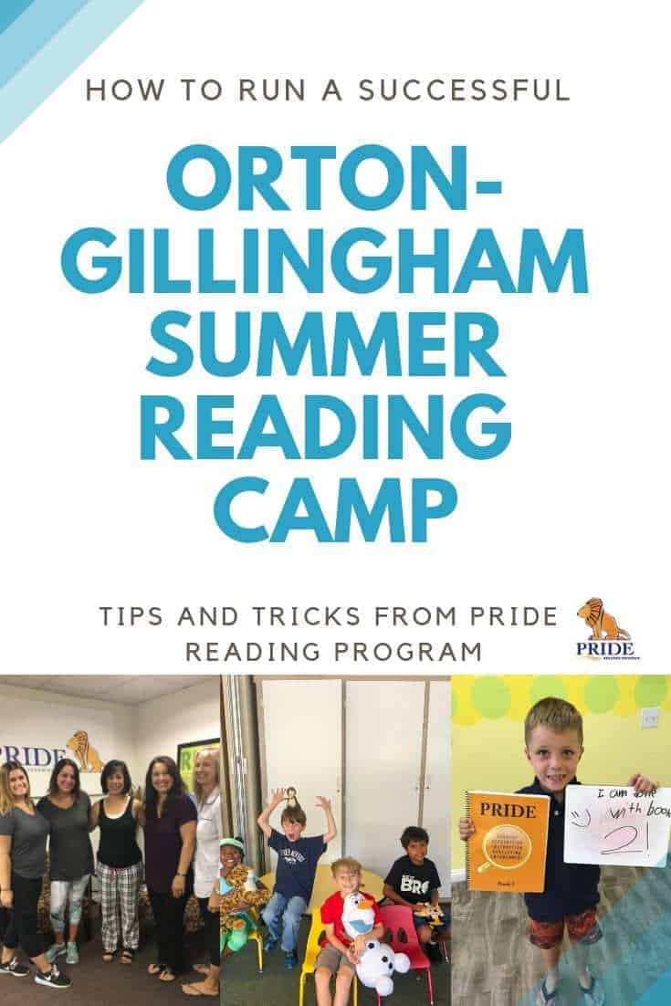 How to run a successful Orton-Gillingham summer reading camp.  If you are planning to offer an Orton-Gillingham Summer Reading Camp, this Webinar is for you.!