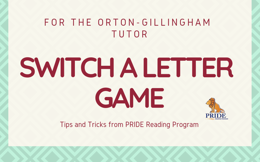 Letter Game for the Orton-Gillingham Tutor