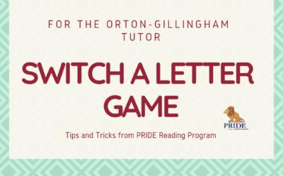 Letter Game for the Orton-Gillingham Tutor