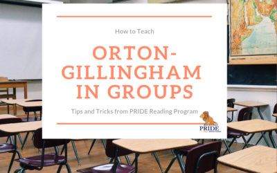 How to Teach Orton-Gillingham in Groups
