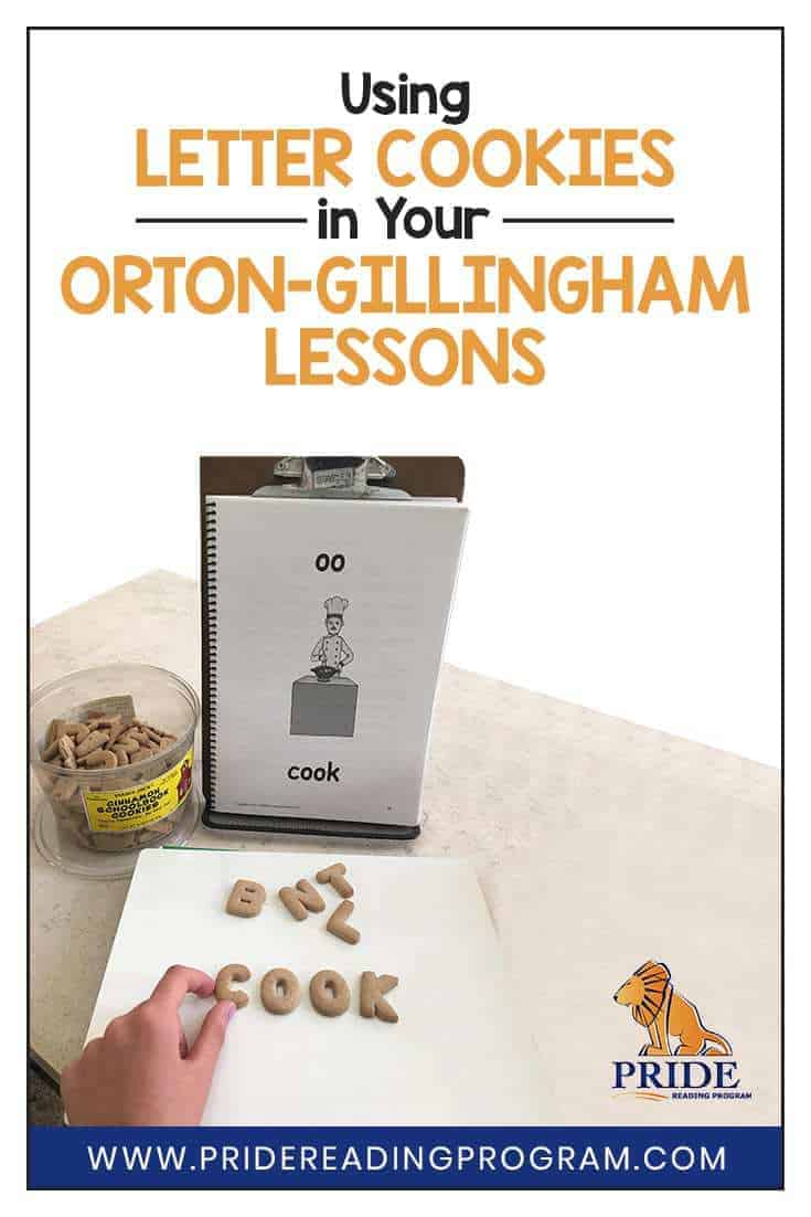 Spice up your Orton-Gillingham lessons with this fun Letter Cookie activity!  #ortongillingham #phonics #learning #teacher #homeschool #speechtherapy #sped #spelling