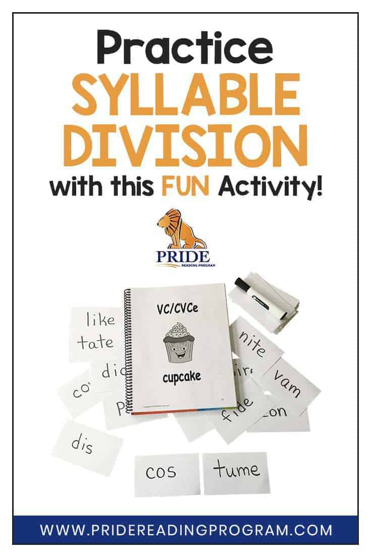 Here is a really fun, low prep and simple syllable division activity using VC/CVCe words that you can use with your child or student. #ortongillingham #syllable #literacy #phonics #teacher #slp #sped #homeschool #kids