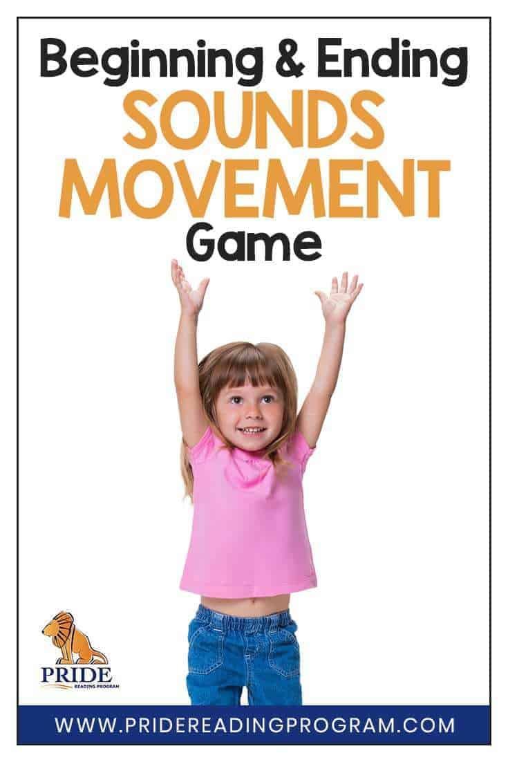 Your kids will love this fun,  FREE,  and NO PREP beginning and ending sounds movement game.  It is a learning activity that is fun and active and helps your child build reading skills and phonemic awareness skills.   #ortongillingham #reading #activity #kids #teacher #homeschool #parent #learning