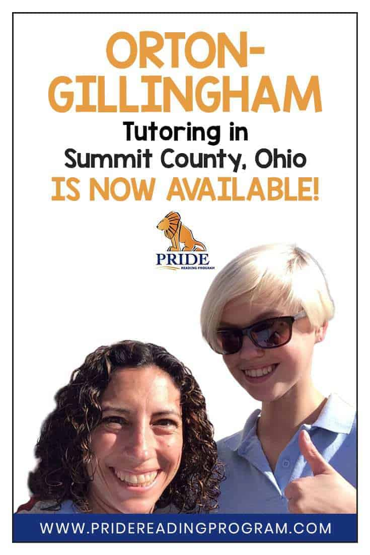 The PRIDE Reading Program has announced that Peak Potential Therapy in Summit County, Ohio has a team of speech therapists that can now work with kids that need Orton-Gillingham tutoring!  #ortongillingham #dyslexia #speechtherapy #slp #auditoryprocessing #apraxia #ohio