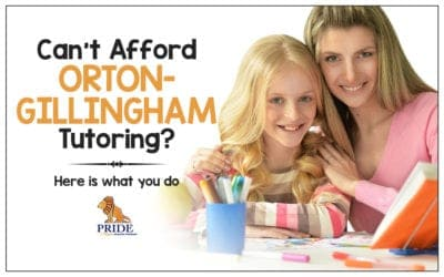 Can't Afford Orton-Gillingham Tutoring? Here is what you do
