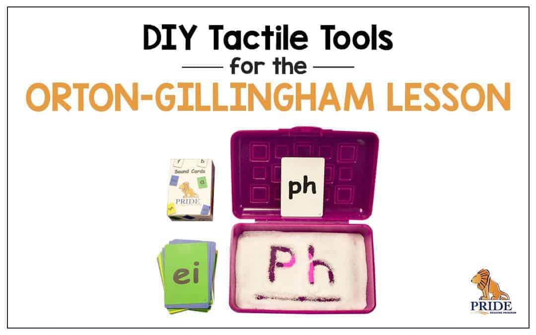 DIY Tactile Tools for the Orton-Gillingham Lesson