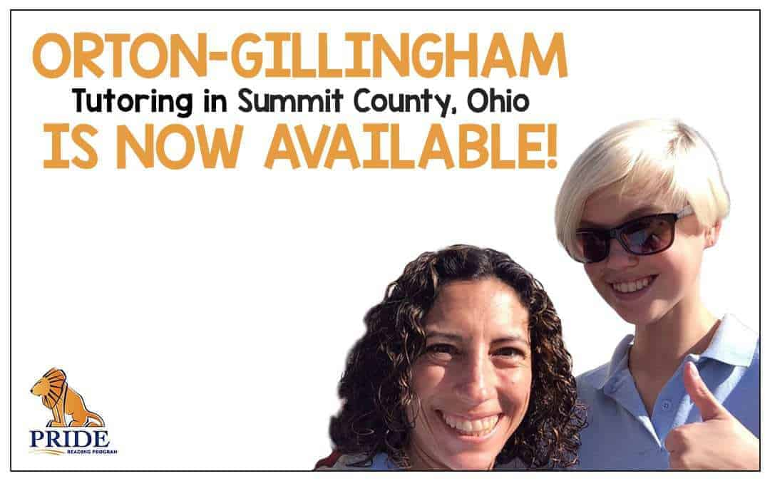 Orton-Gillingham Tutoring is Now Available in Summit County, Ohio!
