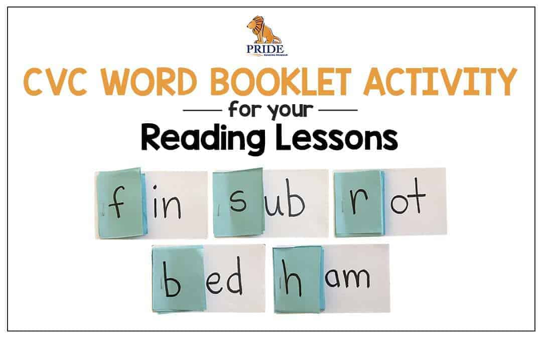 CVC Word Booklet Activity