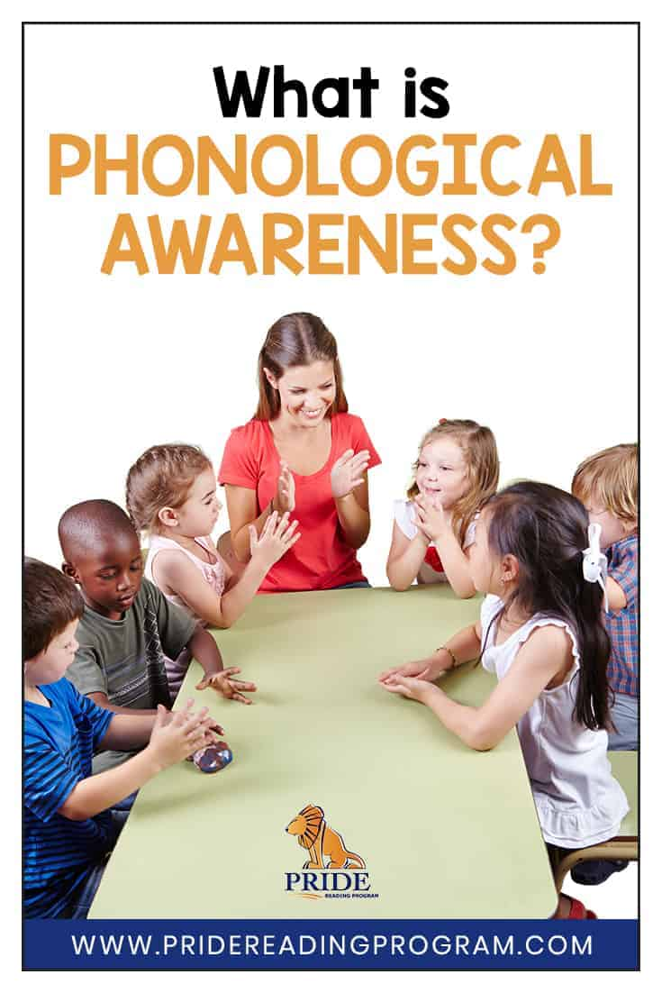 What is Phonological Awareness?  Here is an explanation of phonological awareness and  some specific strategies that you can use with your child for teaching phonological awareness.  #phonologicalawareness #speechtherapy #teacher #sped #readingintervention #ortongillingham #pridereadingprogram #kindergarten #firstgrade