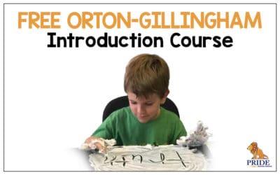 FREE Orton -Gillingham Introduction Course!
