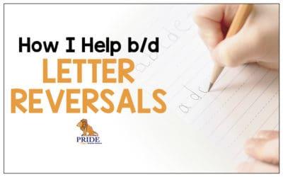 How I Help b/d Letter Reversal