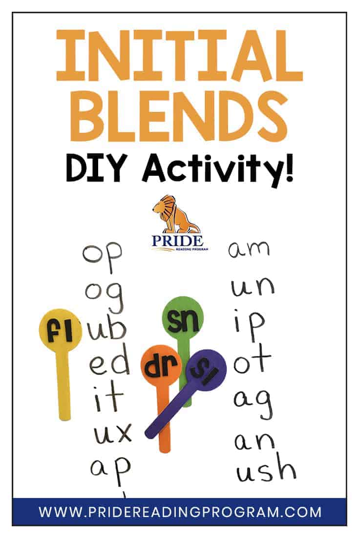 Here is a really simple and fun initial blends activity that will help your child read and spell words with initial blends.  #ortongillingham #phonics #reading #teacher #speechtherapy #sped
