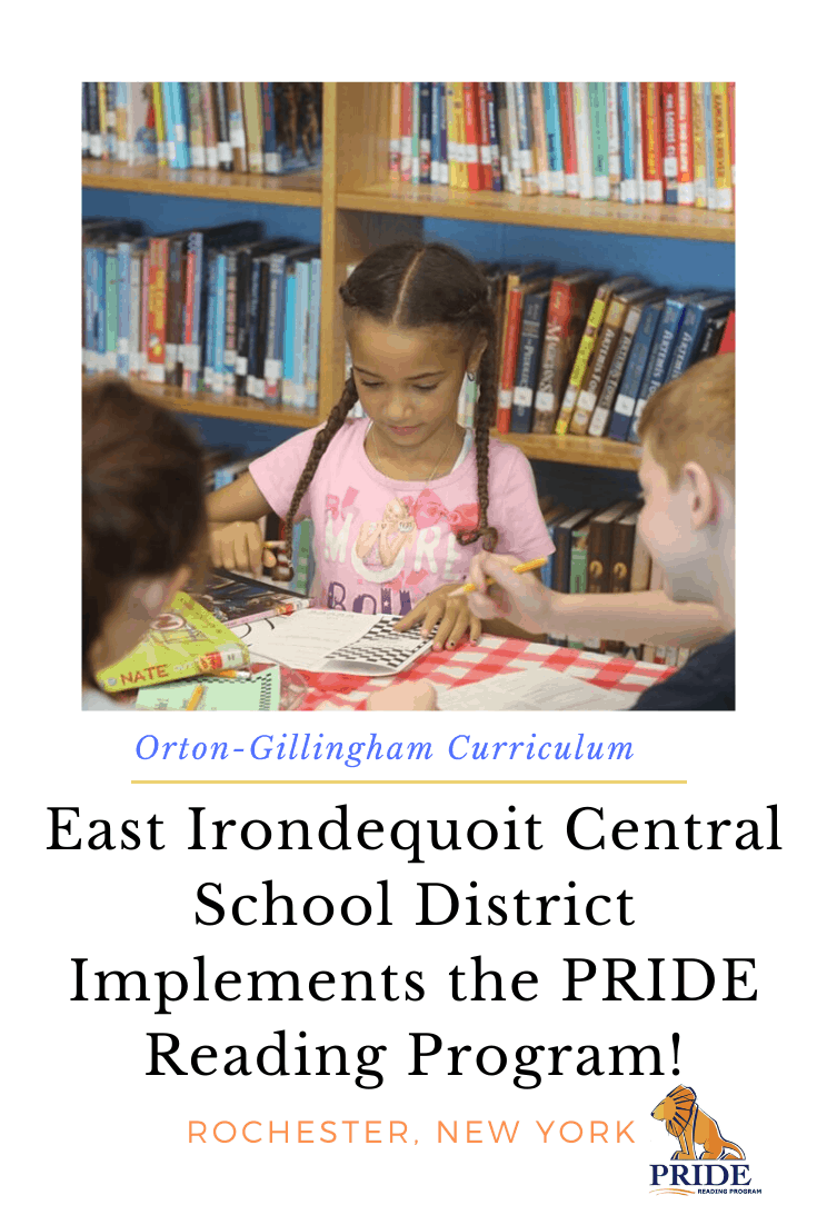 The PRIDE Reading Program has announced that the East Irondequoit Central School District located in Rochester, New York has implemented the PRIDE Reading Program, structured literacy curriculum for students with dyslexia and learning differences. #school #dyslexia #curriculum #pridereadingprogram #literacy