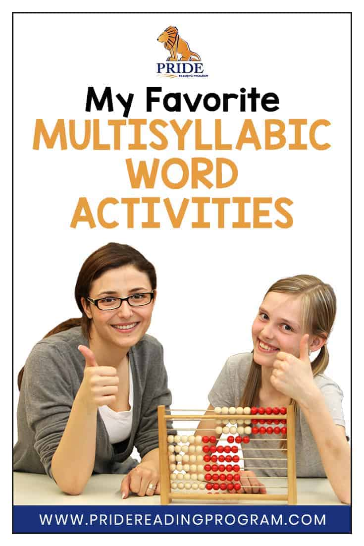 Are you looking for some multisyllabic word activities that will help your student practice decoding and breaking up difficult words?  Here are some of my favorite multisyllabic word activities that are really easy, fun and involve a lot of movement. #reading #spelling #teacher #homeschool #specialeducation #ortongillingham