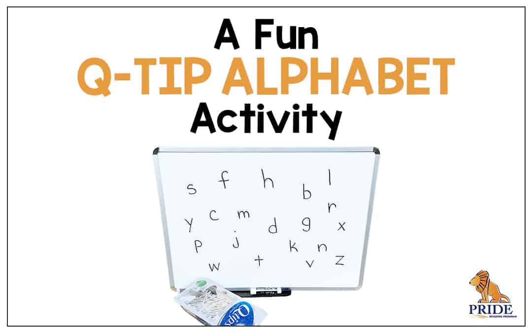 Alphabet Q-Tip Letter Activity