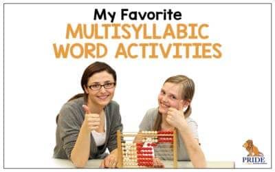 My Favorite Multisyllabic Word Activities