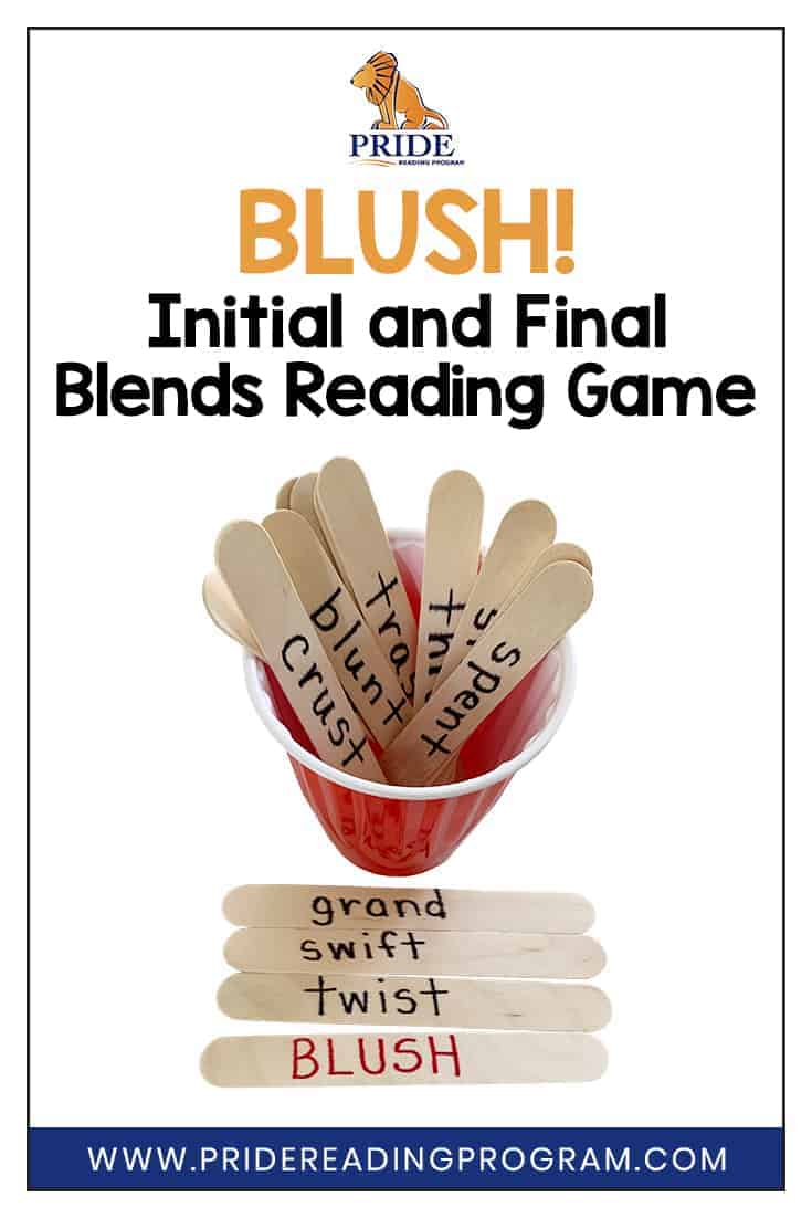 BLUSH is an easy to make reading game that will help your student practice initial and final blends in your Orton-Gillingham and phonics lessons.