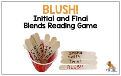 BLUSH! Initial and Final Blends Reading Game