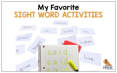 My Favorite Sight Word Activities