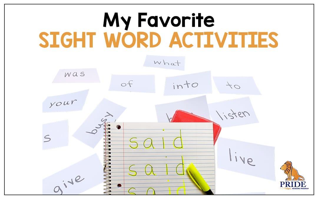 My Favorite Sight Word Activities
