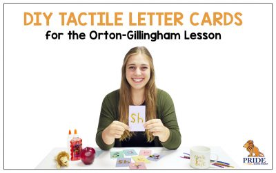 DIY Tactile Letter Cards for the Orton-Gillingham Lesson