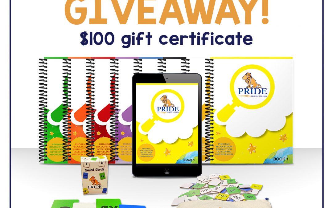 PRIDE Reading Program Giveaway