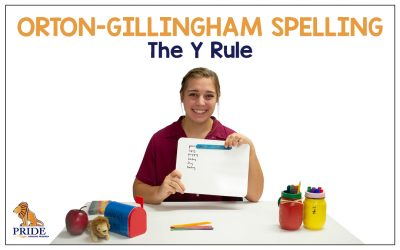 Orton-Gillingham Spelling: The Y Rule